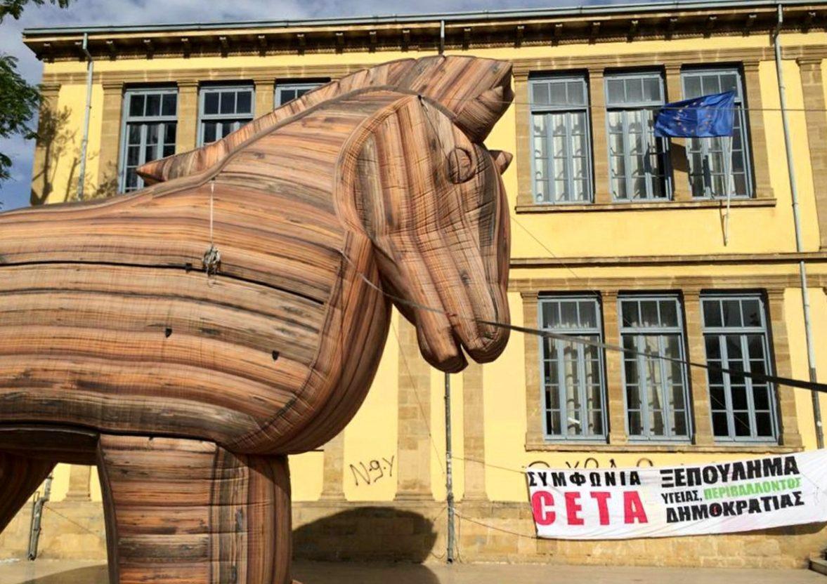 YFoE Cyrpus tours the CETA trojan horse across the country! Photo: YFoE Cyprus