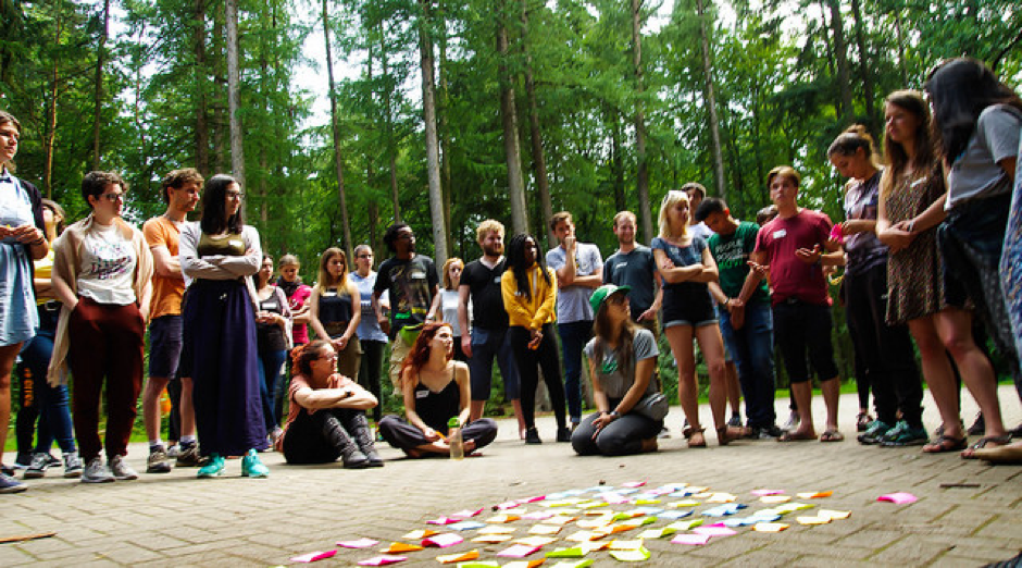 Young people at the YFoEE summer camp in 2016